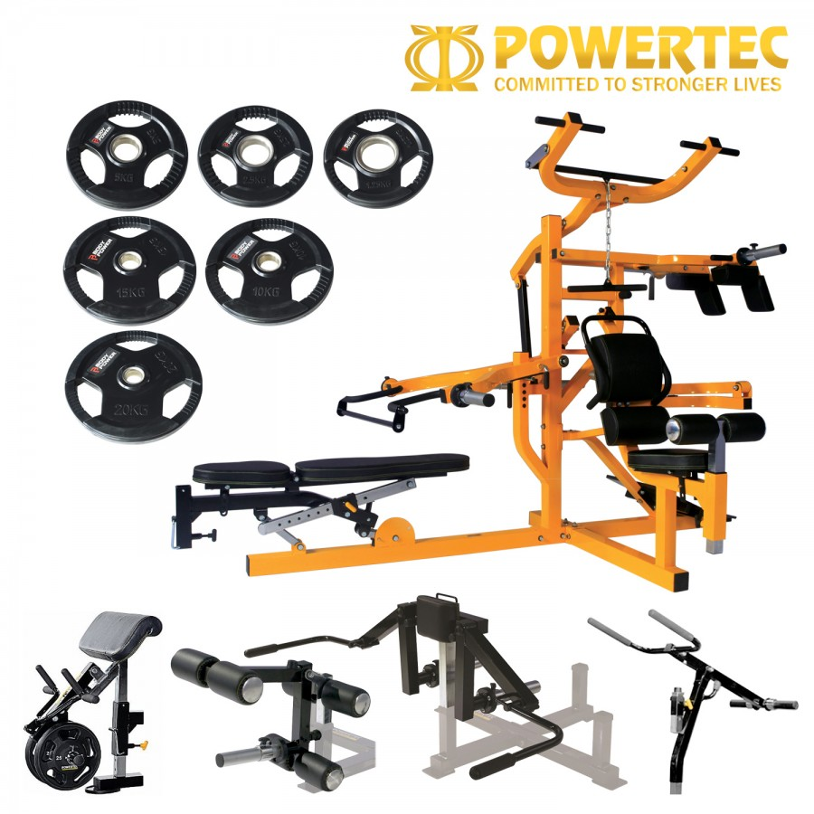 Powertec Ultimate Workbench Multisystem Body Power Olympic Weight Package