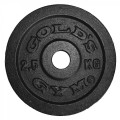Golds Gym 2.5kg Standard Cast Black Discs (x12)