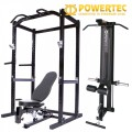 Powertec PowerRack Package - Power Rack, Lat Attachment & Utility Bench