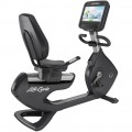 Life Fitness Platinum Club Series Recumbent Cycle with DISCOVER SI Console (Arctic Silver)